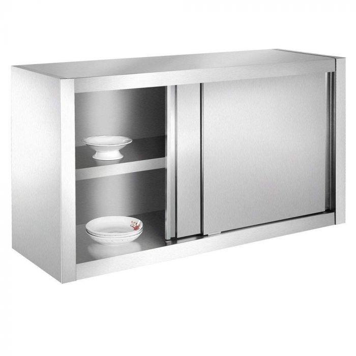Armoire de cuisine, armoire murale en inox 180x40x60cm idéal restaurants, cuisines, cantines