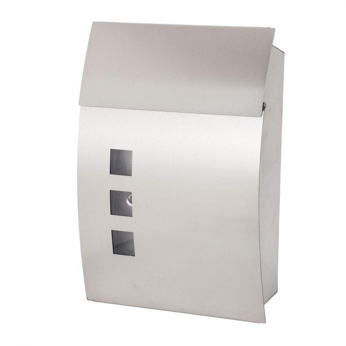 Boite aux lettres Design en acier inoxydable 35x9.5x45cm + 2 clés