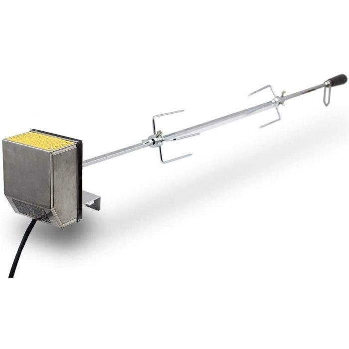 tournebroche électrique rôtissoire inox pour barbecue, grill, tourne-broche 132cm 230V 4W 2-3 RPM