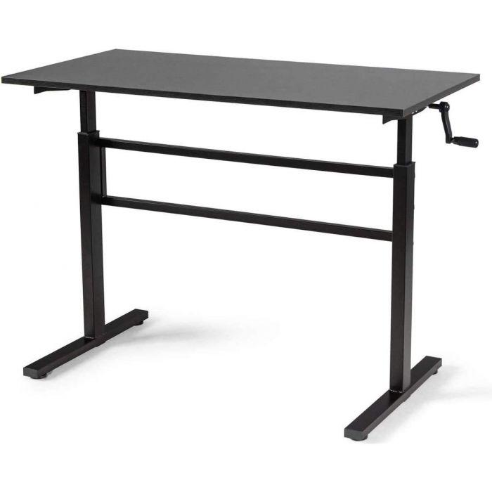 Bureau ajustable en hauteur (76-114cm) avec plateau 120x60cm, bureau ergonomique,  bureau debout manuel