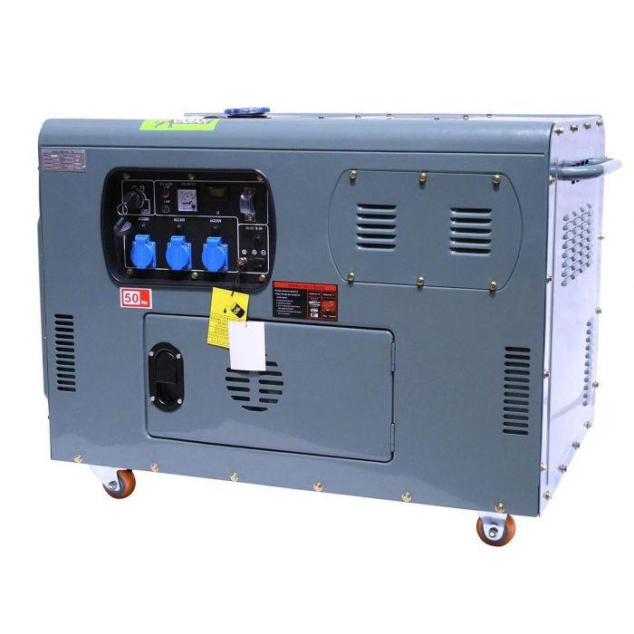 Générateur / Groupe électrogène Diesel insonorisé 12kW 230V + 12V