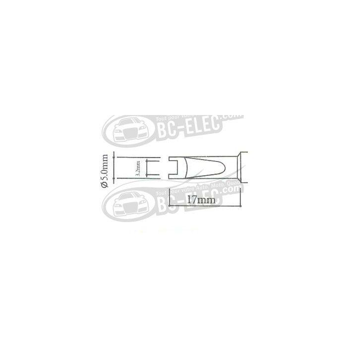 Panne R, 5mm ouverture de burin 3.2mm