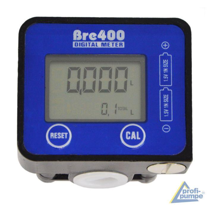 Débitmètre numérique pour pompe de transfert de fluide Diesel, Huile Eau Adblue 19-190 l/min, 1/2'', Compteur de liquide