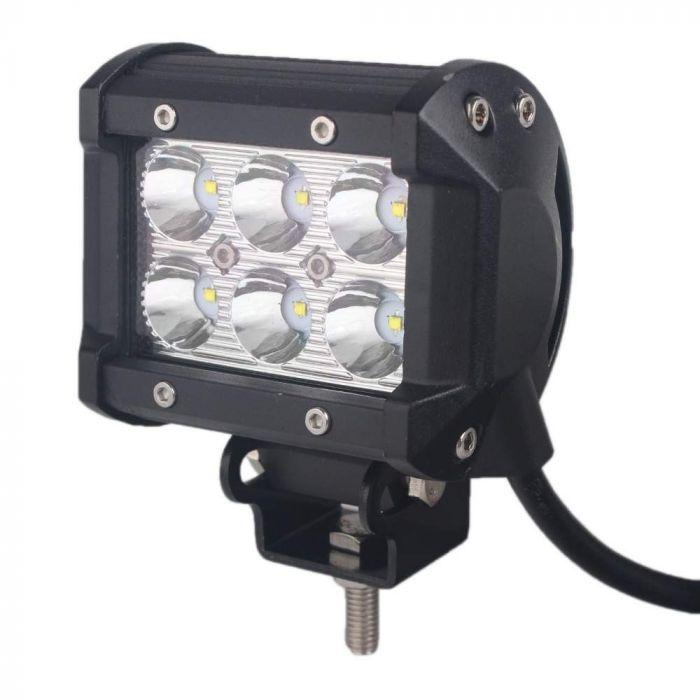 Feux Longue Portée LED pour 4x4 et SUV, 9-32V, 18W équivalent 180W FLOOD
