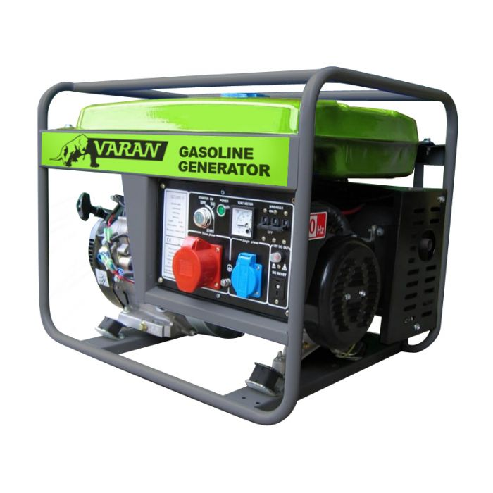Groupe électrogène essence 7.0 kVA 1x 400V 1x 230V 1x 12VDC