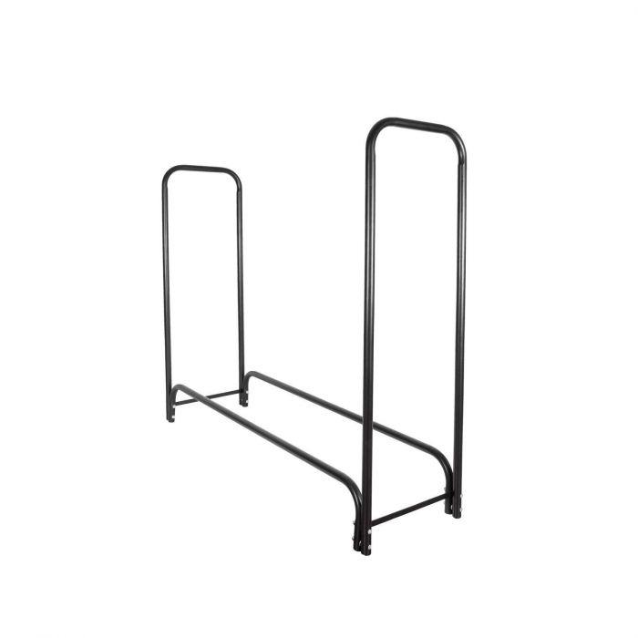 Rangement à bois en acier noir 150x36x120CM, rack pour bois de chauffage, range bûches