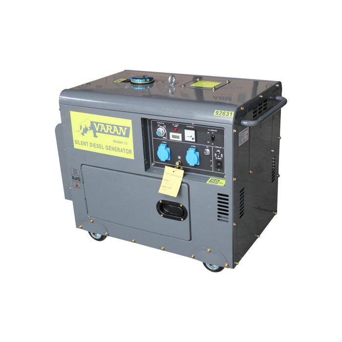 Groupe électrogène Diesel SILENCIEUX 5.5 KW 230V + 12V