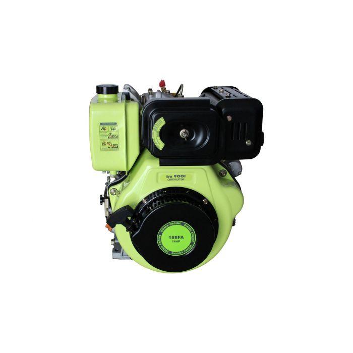 Moteur Diesel 456cc 14CV + Démarrage Electrique, sortie à clavette 25.4mm F2