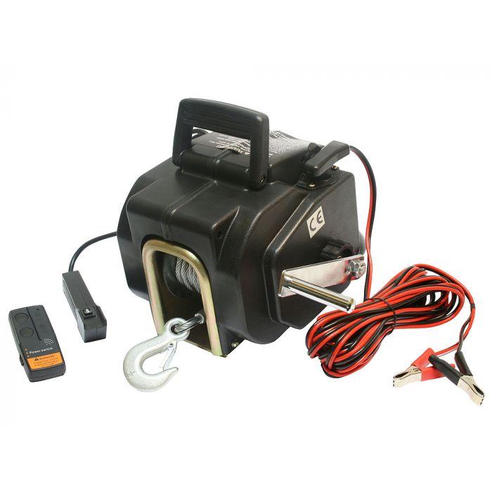 Treuil électrique 12V 1587KG, Treuil à câble longueur 10.2m Ø5.2mm pour quad, bateau, auto...(reconditionné)