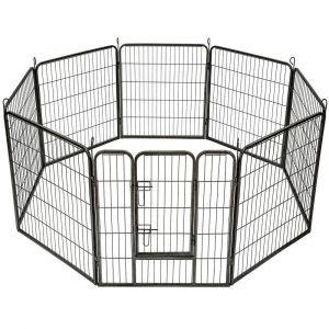 Parc à Chiots, enclos pour chiens et autres animaux, 8 panneaux 80x80, modulable