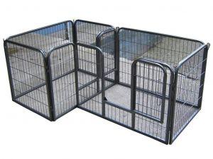 Parc à Chiots, chiens et autres animaux, 7 panneaux, modulable