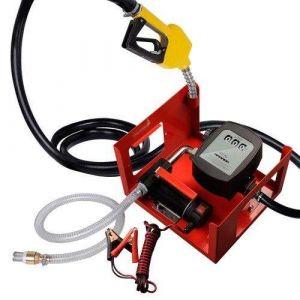 Pompe à fuel / gasoil avec clapet anti-retour, crépine d'aspiration, 12V 40l/min 150W, Pistolet automatique
