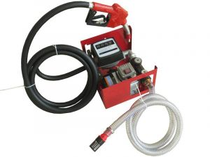 Pompe à fuel ou gasoil auto-amorçante, 230V 60l/min - 550W - Pistolet à Blocage automatique