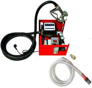Pompe à fuel ou gasoil autoaspirante mobile, 230V 60l/min - 550W - Pistolet à Blocage Manuel