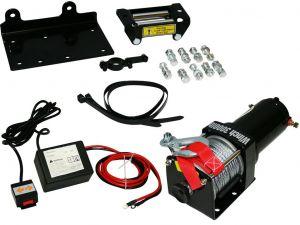 Treuil électrique 12V 1360Kg / 2720Kg 1000W, Treuil à câble longueur 10.2m Ø5.2mm